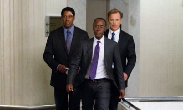 Washington as Whitaker, Don Cheadle as Hugh Lang and Bruce Greenwood as Charlie  Anderson.