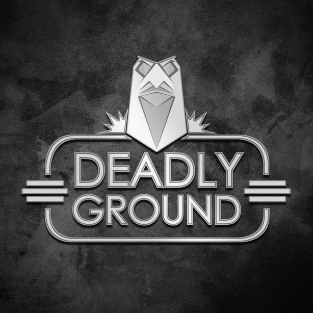 Deadly Ground logo bw
