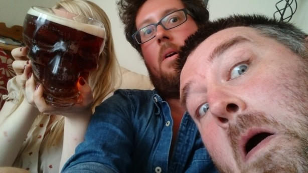 Me, Bill and the Merged Louise/Satan Entity from right to left.