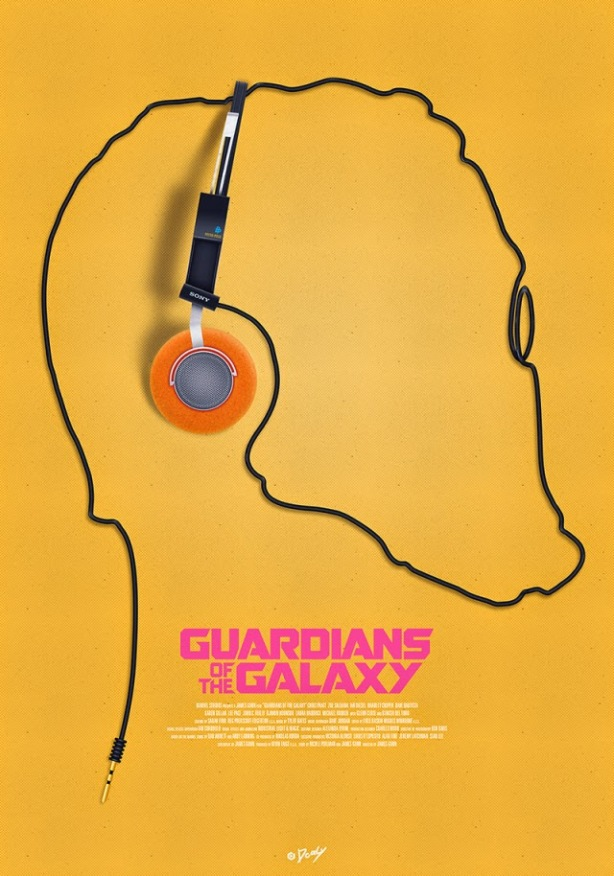 Guardians of the Galaxy walkman poster