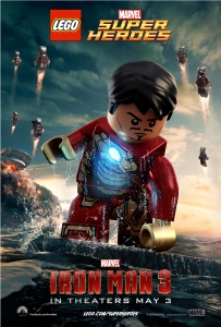 Lego Iron Man doing a poo in the sea.