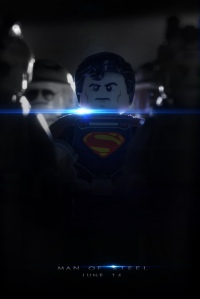 man of steel lego poster