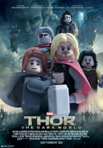 Thor The Dark World Lego Poster